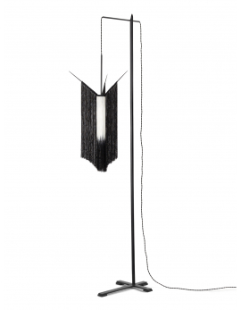 FLOOR LAMP CHAN 2 BLACK/WHITE