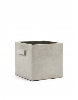 FLOWER POT L GREY