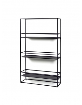 SHELF L DISPLAY BLACK