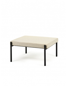 FOOTSTOOL CREAM WHITE CURVE