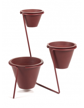 PLANT STAND + PLANT POT L RED