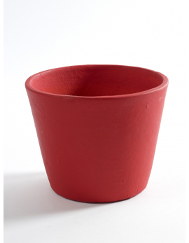 POT CONTAINER MEDIUM D16 H12 BURGUNDY