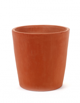 ORCHIDEE POT LARGE D14 H13,2 ORANGE
