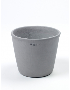 POT CONTAINER SMALL D13 H11 MOUSE GREY