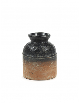 FLOWER POT S TERRACOTTA/BLACK