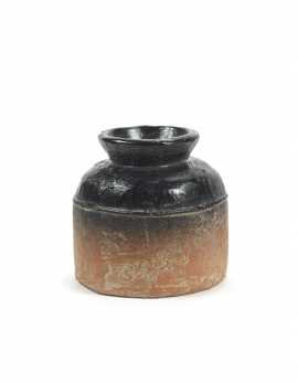 FLOWER POT M TERRACOTTA/BLACK