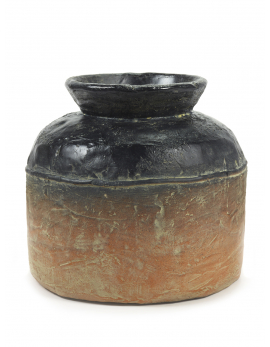 FLOWER POT L TERRACOTTA/BLACK