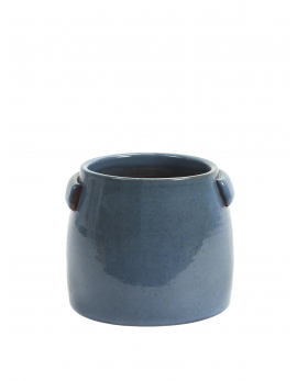 FLOWER POT S BLUE JARS