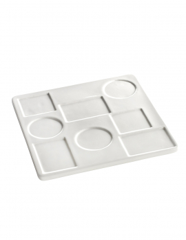 APPETIZER PLATE SQUARE FANNY