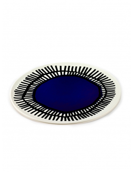 ASSIETTE BLEUE D32 H1 TABLE NOMADE