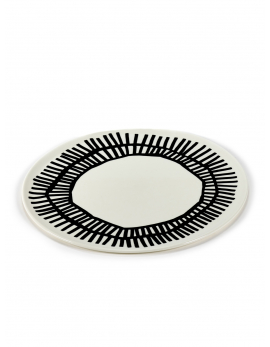 PLATE WHITE D32 H1 TABLE NOMADE