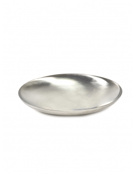 BOWL L BRUSHED STEEL