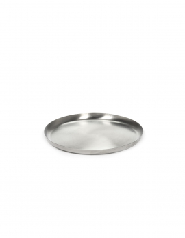 SERVING DISH S BRUSHED STEEL