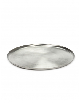 SERVING DISH L BRUSHED STEEL