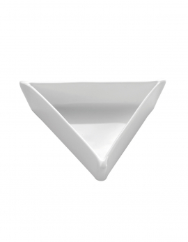 ASSIETTE TRIANGLE EQUILATERAL 3 PLIE 9.7X9.7X9.7 H2CM