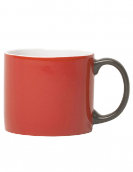 MUG XL RED HANDLE GREY MY MUG (GIFT)