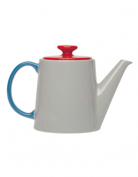TEA POT GREY/RED/BLUE MY TEATIME (GIFT)