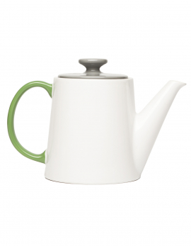 TEA POT WHITE/GREY/GREEN MY TEATIME (GIFT)