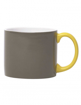 MUG XL ANTHRACITE HANDLE YELLOW MY MUG (GIFT)