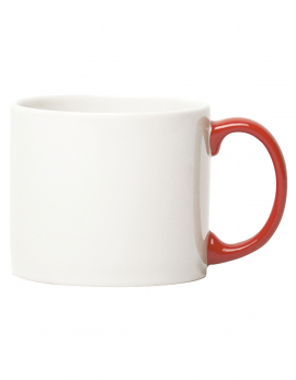 MUG XL WHITE HANDLE RED MY MUG (GIFT)