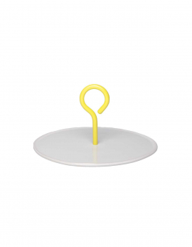 PLATTER M WHITE HANDLE YELLOW MY TRAY
