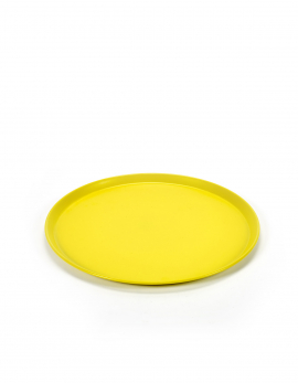 COLOUR TRAY ROUND MEDIUM D37 YELLOW