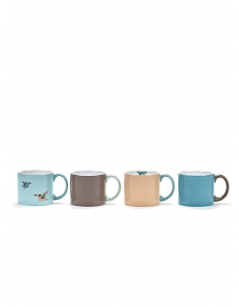FIEP MUG H7 BIRDS SET/4
