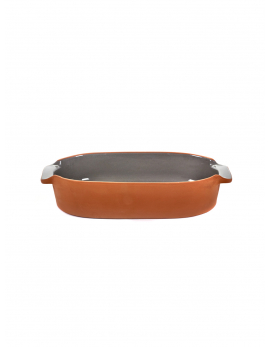 BAKEWARE OVAL SMALL GREY H6 X 29 X 15
