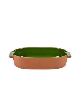 BAKEWARE OVAL SMALL GREEN H6 X 29 X 15