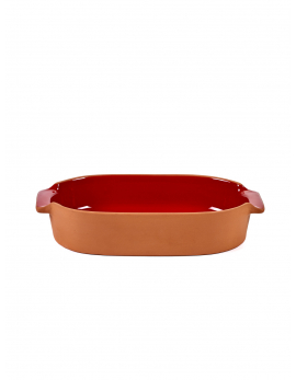 BAKEWARE OVAL SMALL RED H6 X 29 X 15