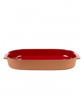 BAKEWARE OVAL LARGE RED H6 X 45 X 26