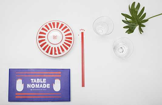 Table Nomade cutlery