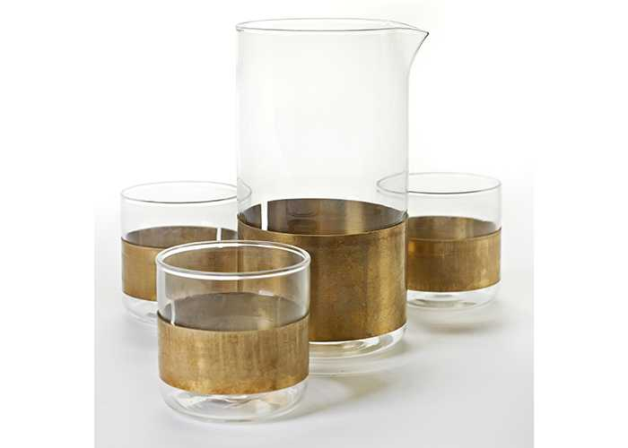 Copper chemistry glassware